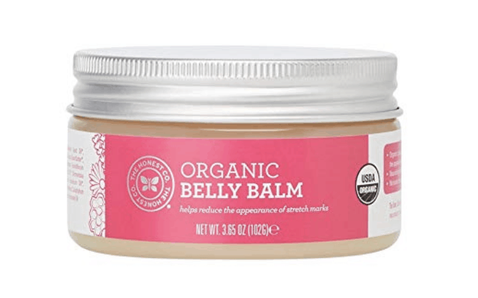 honest organic belly balm for stretch marks