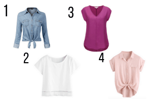 tops to wear with long skirts