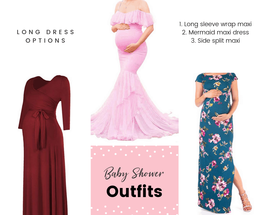 long dresses for a baby shower