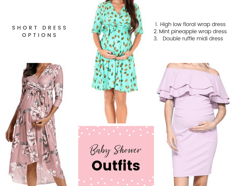 short dress options for a baby shower