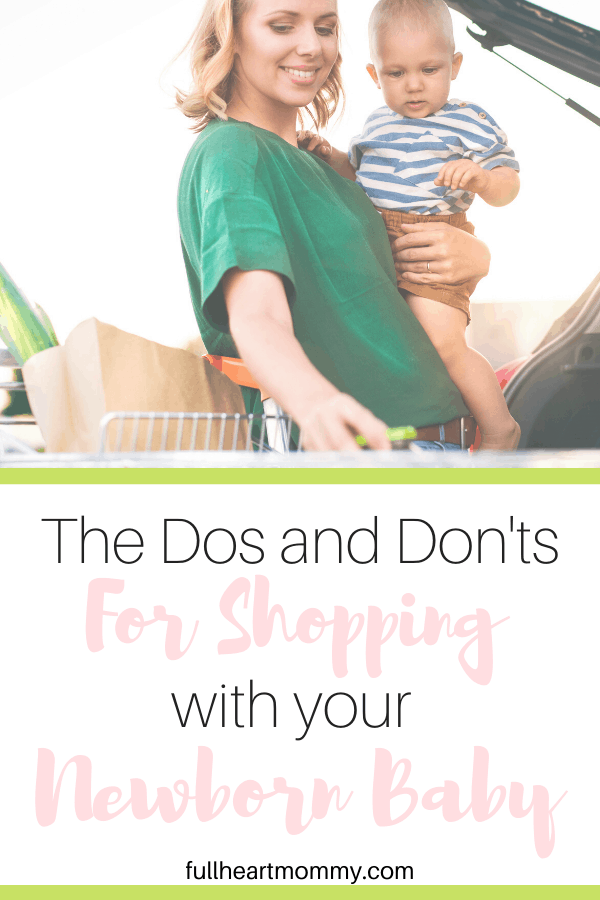 For new moms, getting out of the house to shop with a new baby can be scary. Here are the best mom hacks to getting your shopping done with a brand new baby.
